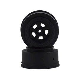 Team Associated ASC71078  Black Rear DR10 Drag Racing Wheels (2)