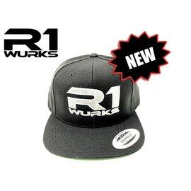R1wurks R1 Cap 2 R1 Wurks Black Wool Flat Brim Hat
