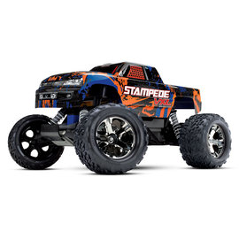 Traxxas TRA36076-4  Orange Stampede VXL 2WD Monster Truck RTR Without Battery & Charger