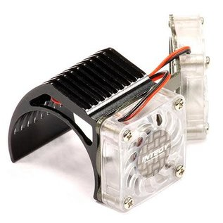 Integy 2961BLACK  Black Twin Motor Cooling Fan + Heatsink 540/550