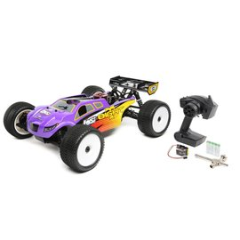 TLR / Team Losi LOS04011  Purple/Yellow Losi 8IGHT-T Nitro 1/8 4WD RTR Truggy w/DX2E Radio