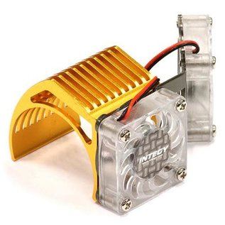 Integy 2961GOLD  Gold Twin Motor Cooling Fan + Heatsink 540/550