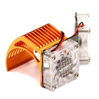Integy 2961ORANGE  Orange Twin Motor Cooling Fan + Heatsink 540/550