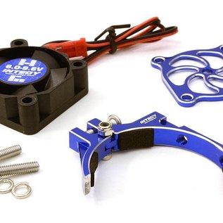 Integy C26775BLUE  Blue 30x30x10mm High Speed Cooling Fan+Clamp Type Mount