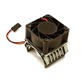 Integy C28598GREY  Grey 36mm Motor Heatsink+40x40mm Cooling Fan