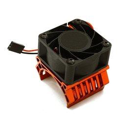 Integy C28598RED  Red 36mm Motor Heatsink+40x40mm Cooling Fan
