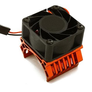 Integy C28598RED  Red 36mm Motor Heatsink+40x40mm Cooling Fan