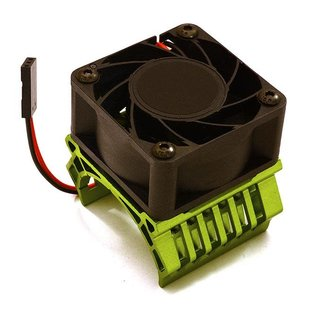 Integy C28598GREEN  Green 36mm Motor Heatsink+40x40mm Cooling Fan