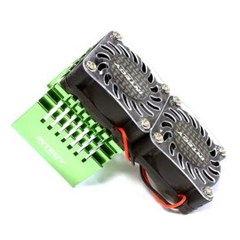 Integy C25728GREEN  Green Twin 40x40mm HS Cooling Fan+Heatsink Mount