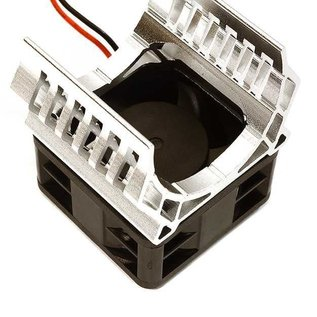 Integy C28597SILVER  Silver 36mm Motor Heatsink+40x40mm Cooling Fan