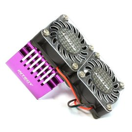 Integy C25728PURPLE  Purple Twin 40x40mm HS Cooling Fan+Heatsink Mount