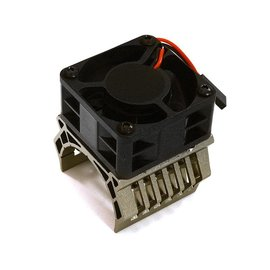 Integy C28597GREY  Grey 36mm Motor Heatsink+40x40mm Cooling Fan