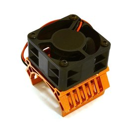 Integy C28597ORANGE  Orange 36mm Motor Heatsink+40x40mm Cooling Fan