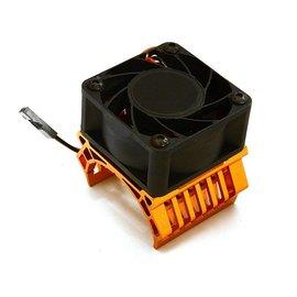 Integy C28602ORANGE  Orange 36mm Motor Heatsink+40mm Fan  for 1/10 Slash 4X4, Stampede 4X4, 4-Tec 2.0