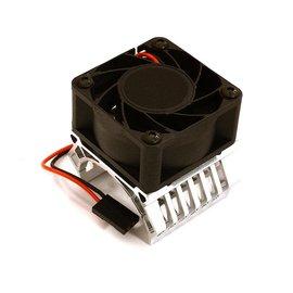 Integy C28602SILVER  Silver 36mm Motor Heatsink+40mm Fan for 1/10 Slash 4X4, Stampede 4X4, 4-Tec 2.0