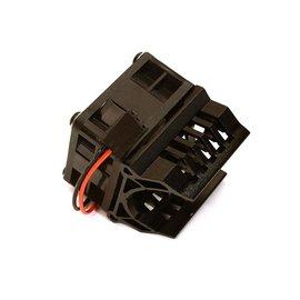 Integy C28595BLACK  Black Brushless Motor Heatsink+40x40mm Cooling Fan 1/16th E-Revo