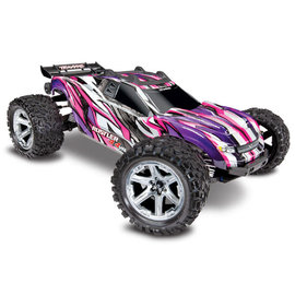 Traxxas TRA67076-4  Pink / Purple Rustler 4X4 VXL Brushless RTR 1/10 without Battery / Charger