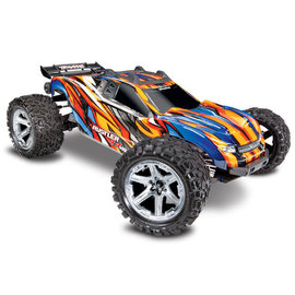 Traxxas TRA67076-4  Orange / Blue Rustler 4X4 VXL Brushless RTR 1/10 without Battery / Charger