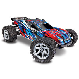 Traxxas TRA67076-4  Blue / Red Rustler 4X4 VXL Brushless RTR 1/10 without Battery / Charger