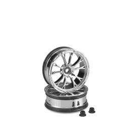 J Concepts JCO3399C  Chrome  Tactic Street Eliminator 2.2″ 12mm Hex Front Wheel (2)