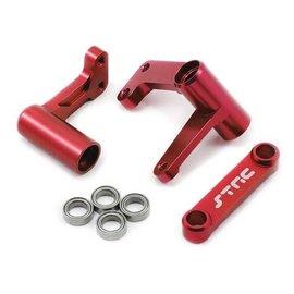STRC SPTST3743XR  Red Aluminum Steering Bellcrank System w/Bearings Bandit  Rustler  Stampede  Slash