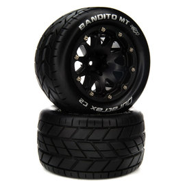 Duratrax DTXC5536  Bandito MT 14mm Hex Belted 2.8 Mounted Front/Rear Tires