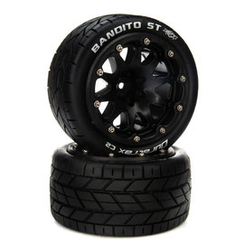 "Duratrax DTXC5540  Bandito ST 14mm Hex Belted 2.8"" Mounted Front/Rear Tires (2)"