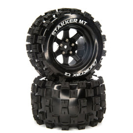 Duratrax DTXC5564  Stakker MT 14mm Hex 2.8 Mounted Front/Rear  Tires C2 (2)