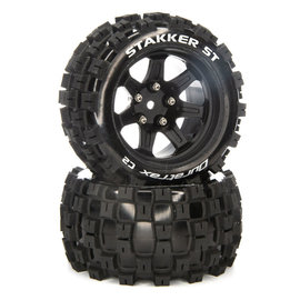 Duratrax DTXC5565  Stakker ST 14mm Hex 2.8 Mounted Front/Rear  Tires C2 (2)
