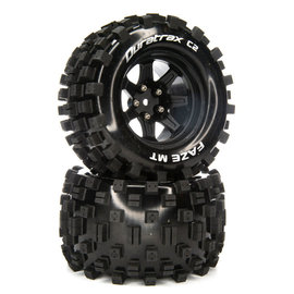 Duratrax DTXC5566  FAZE MT 14mm Hex 2.8 Mounted Front/Rear  Tires C2 (2)
