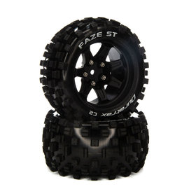 Duratrax DTXC5567  FAZE ST 14mm Hex 2.8 Mounted Front/Rear  Tires C2 (2)