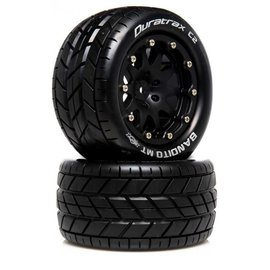 Duratrax DTXC5515  Bandito MT Belted 2.8 2WD Mounted Rear Tires, 0 Offset, Black (2)