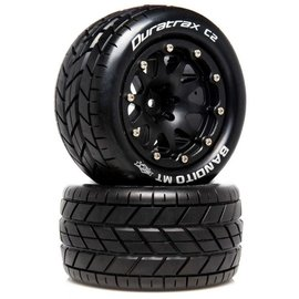 Duratrax DTXC5516  Bandito MT Belted 2.8 2WD Mounted Rear Tires, .5 Offset, Black (2)