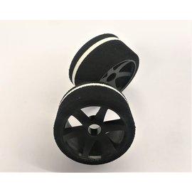 Gravity RC LLC GRC141F  G-Spec 12th scale (Carpet or Asphalt) Nylon 6spoke wheel, Black (Pair Front)