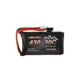Venom Racing VNR15206  7.4V 430mAh 2S 30C LiPo Battery JST-PH 2.0 SCX24