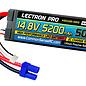 Lectron Pro 4S5200-50H5  Lectron Pro 4S 14.8v 5200mAh 50C LiPo Battery w/ EC5 Plug