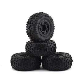 Proline Racing PRO1182-30 Badlands SC Slash 4 Pack w/Split Six Wheels (4) (Black) (M2)