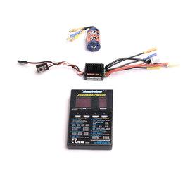 Hobbywing HWI81030000  Ezrun 18A ESC & 12T-2030 7800kv Motor Combo for 1/18 scale with LED program card