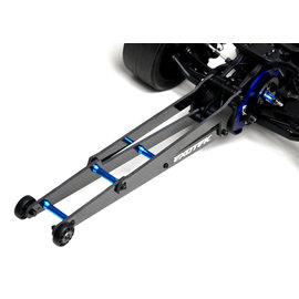 "Exotek Racing EXO1962  DR10 CF Wheelie Bar Set, 12"" legal, adjustable height"