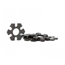 Avid RC AV1044-S-10  12mm Hex Track Width Spacers | 1mm Carbon | 5 pack