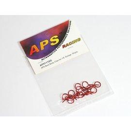 APS Racing APS91118OV2  Orange Large Bent Body Clips (10)