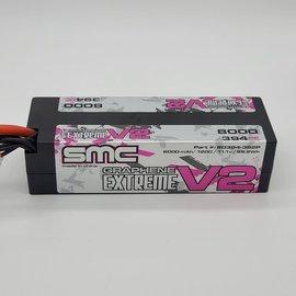 SMC SMC80394-3S2PXT90  True Spec V2 3S 11.1v 8000mAh 120C LiPo w/ XT90 Plug
