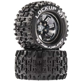 Duratrax DTXC5253  Lockup MT 14mm Hex 2.8 Mounted Tires (2)