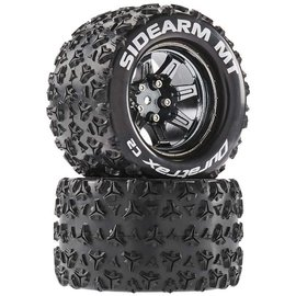 Duratrax DTXC5255  Sidearm MT 14mm Hex 2.8 Mounted Tires (2)