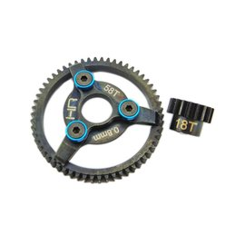 HOT RACING HRASTE258  Hot Racing Brushless Steel Gear Kit 32P 18/58T .8m 3.22