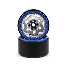SSD SSD00238  2.2 Champion Beadlock Wheels (Silver/Blue)