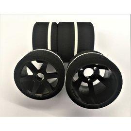 Gravity RC LLC GRC140  G-Spec 12th scale (Carpet or Asphalt) Nylon 6spoke wheel, Black, (4)