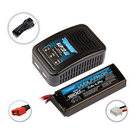 Team Associated ASC27202C2  Reedy 123-S Charger/Wolfpack 1600mAh 2S LiPo Combo
