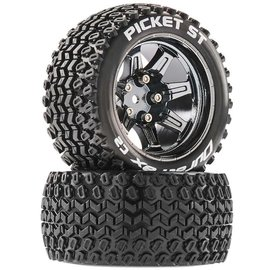 Duratrax DTXC5203  Picket ST 14mm Hex 2.8 Mounted Tires (2)