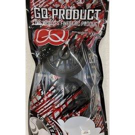GQ Products GQ-GT-FOAM-40R-OZ-C-S  GQ 1:8 GT Foam Tire Rear 40 Spoke OZ Black Wheel (2)